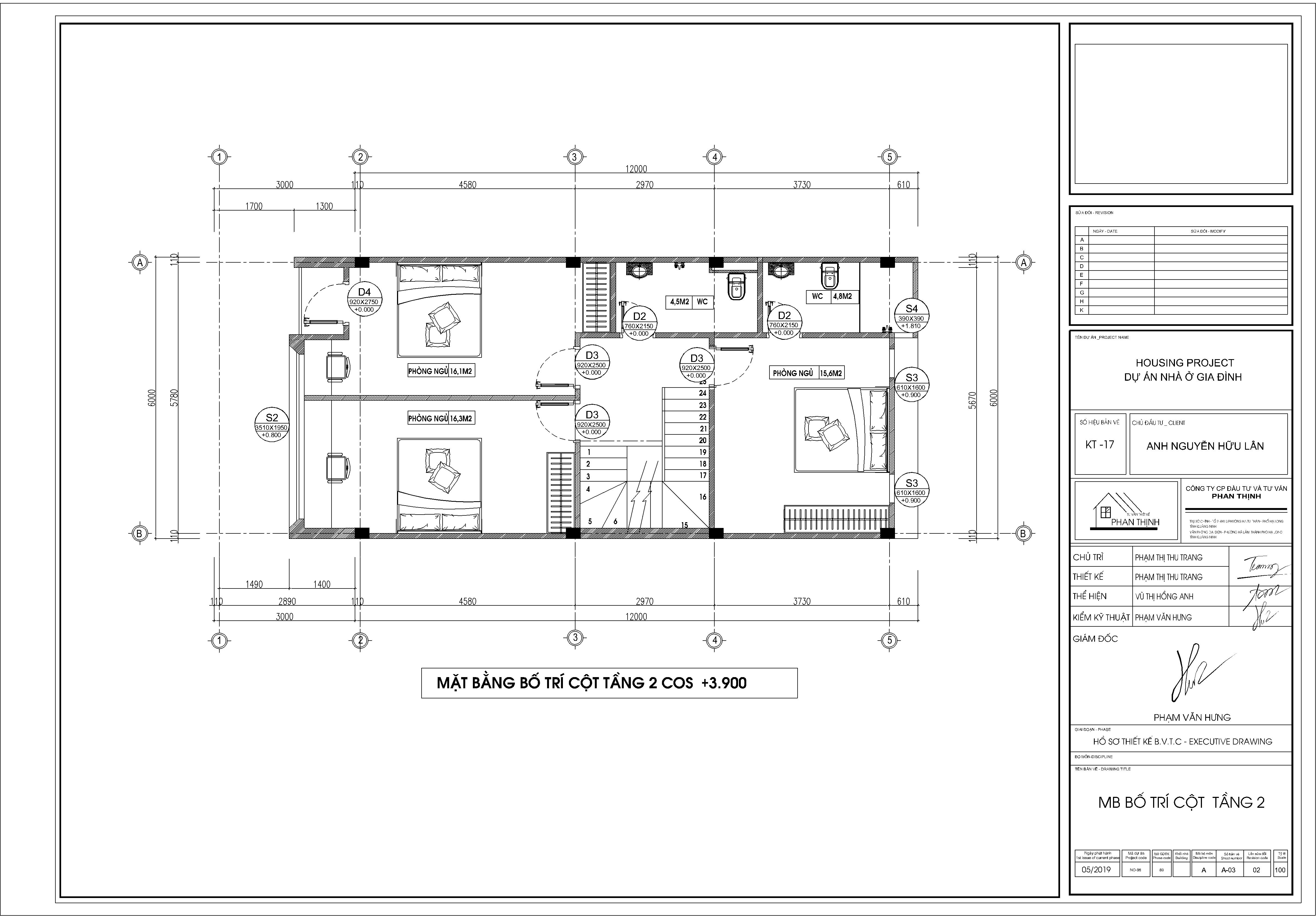 Mặt bằng thiết kế bố trí cửa tầng 2