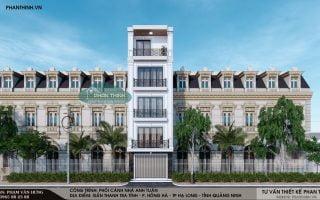 Thiết kế nhà 4 tầng tân cổ điển tại phường Hồng Hà, Hạ Long,Quảng Ninh