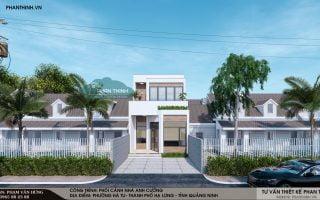 Thiết kế xây dựng nhà 2 tầng hiện đại tại p. Hà Tu, Hạ Long, Quảng Ninh