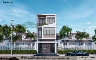 Thiết kế nhà 3 tầng hiện đại mặt tiền 6m tại phường Hà Khánh