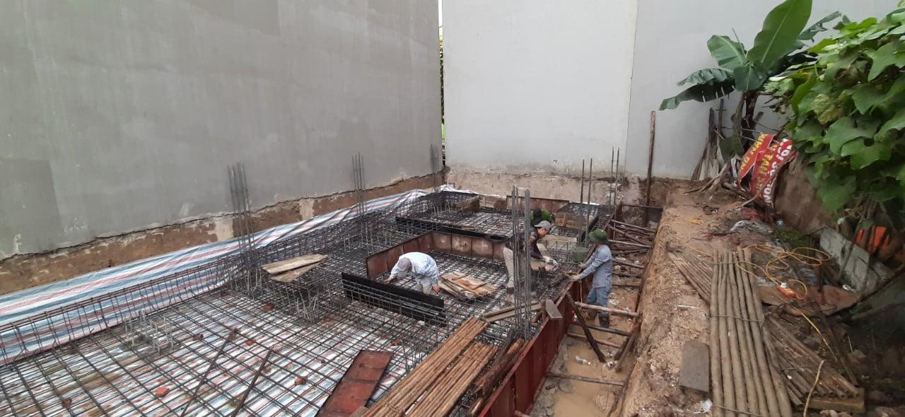 Khu vực Hà Khánh nền đất yếu, ngoài đổ bê tông chúng ta cần bố trí thêm lớp móng bè