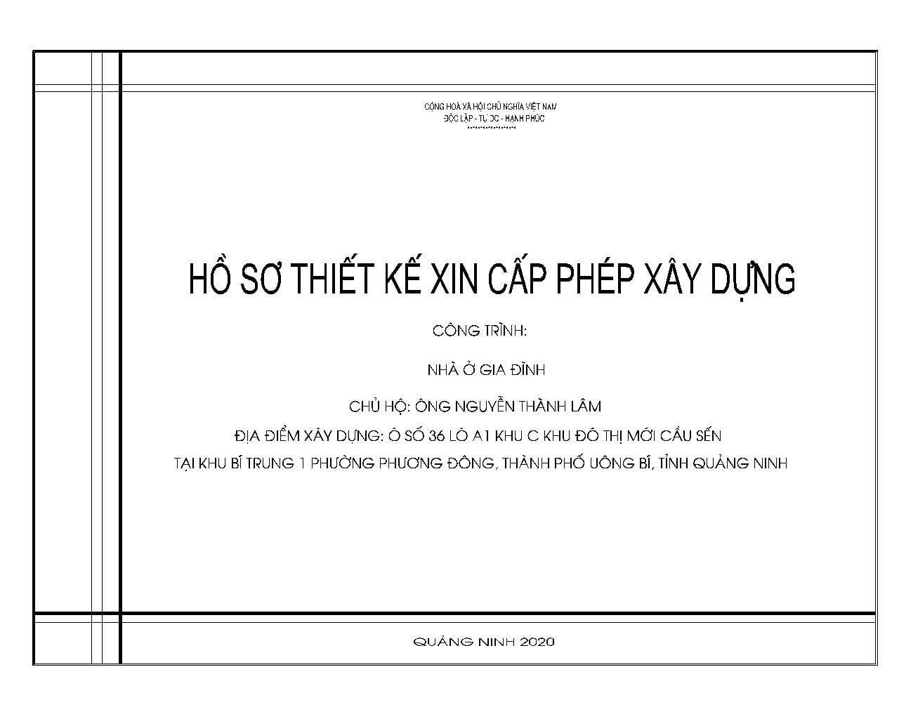 Bìa hồ sơ thiêt kế