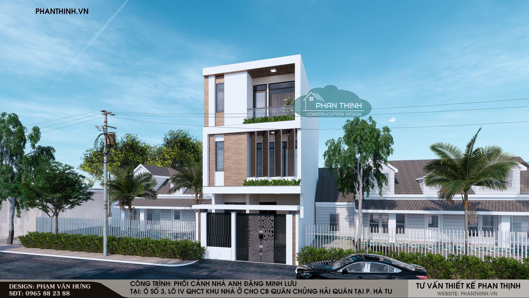 Thiết kế mẫu nhà 3 tầng 6m mặt tiền phong cách hiện đại Quảng Ninh