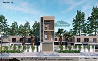 Thiết kế mẫu nhà 3 tầng hướng tây phong cách hiện đại ở Quảng Ninh