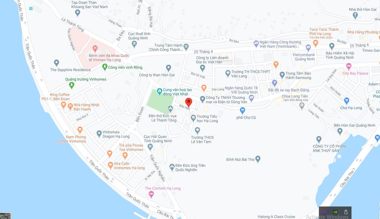 Vị trí xây dựng công trình tại khu dốc học phường Hòn Gai, Hạ Long, Quảng Ninh