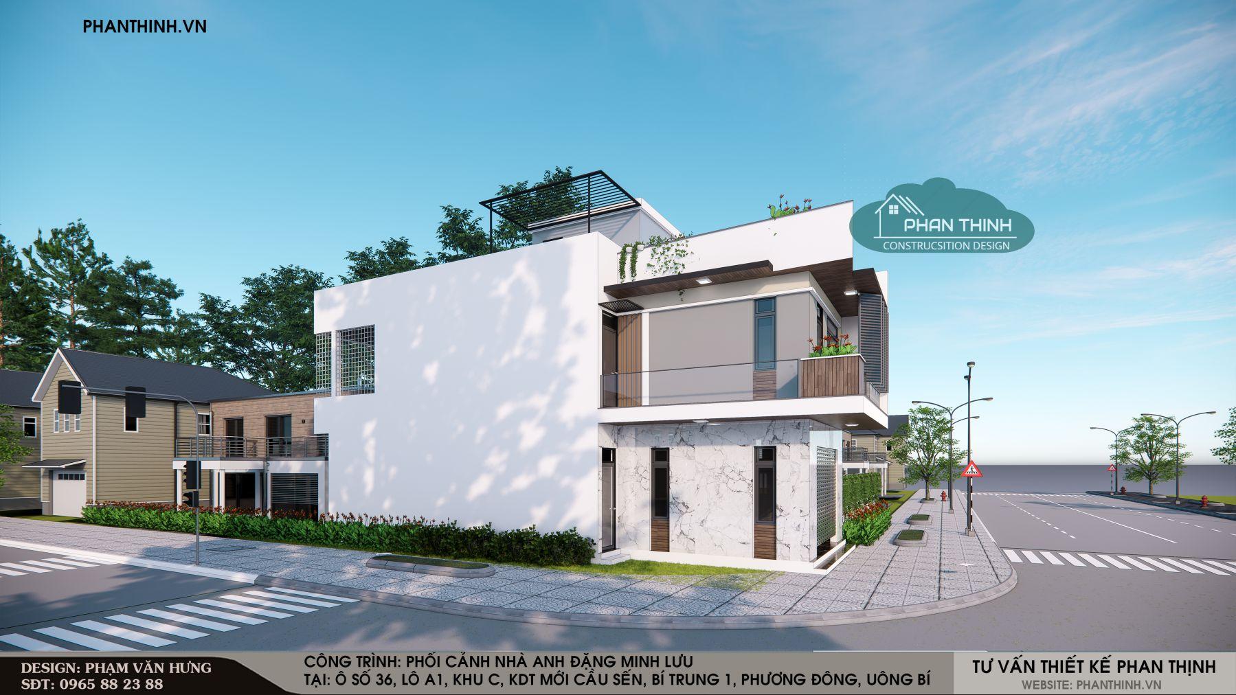 Phương án thiết kế 2: nhà 2 tầng mặt tiền 6,6m