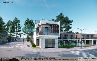 Mẫu thiết kế nhà 2 tầng 2 mặt tiền 6,6x16m tại Phương Đông, Uông Bí