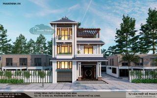 Thiết kế nhà 3 tầng mái thái đẹp tại phường Giếng Đáy tỉnh Quảng Ninh