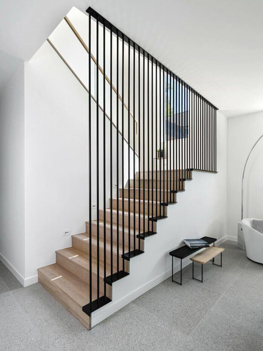 Mẫu cầu thang có thiết kế tối giản hết mực có thể