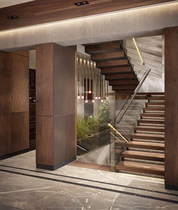 Ngôi nhà được tô thêm phần sang trọng khi sử dụng mẫu cầu thang này