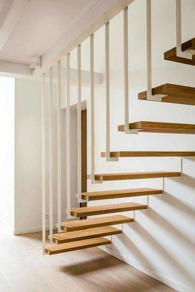 Cầu thang thép có thiết kế đơn giản