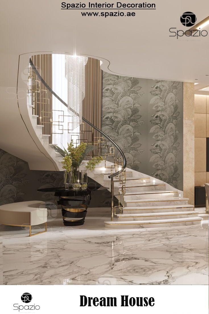 Mẫu cầu thang thiết kế dành cho ngôi nhà tân cổ điển