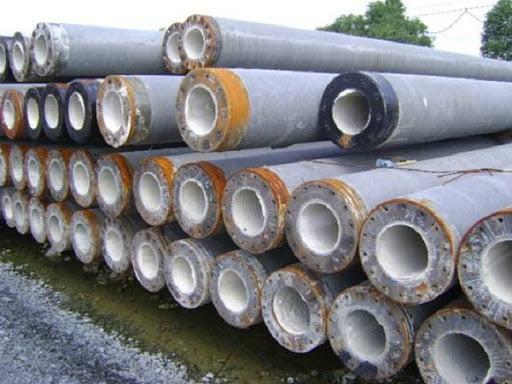 Cọc bê tông tiết diện tròn ít dùng trong công trình nhà dân hơn cọc vuông