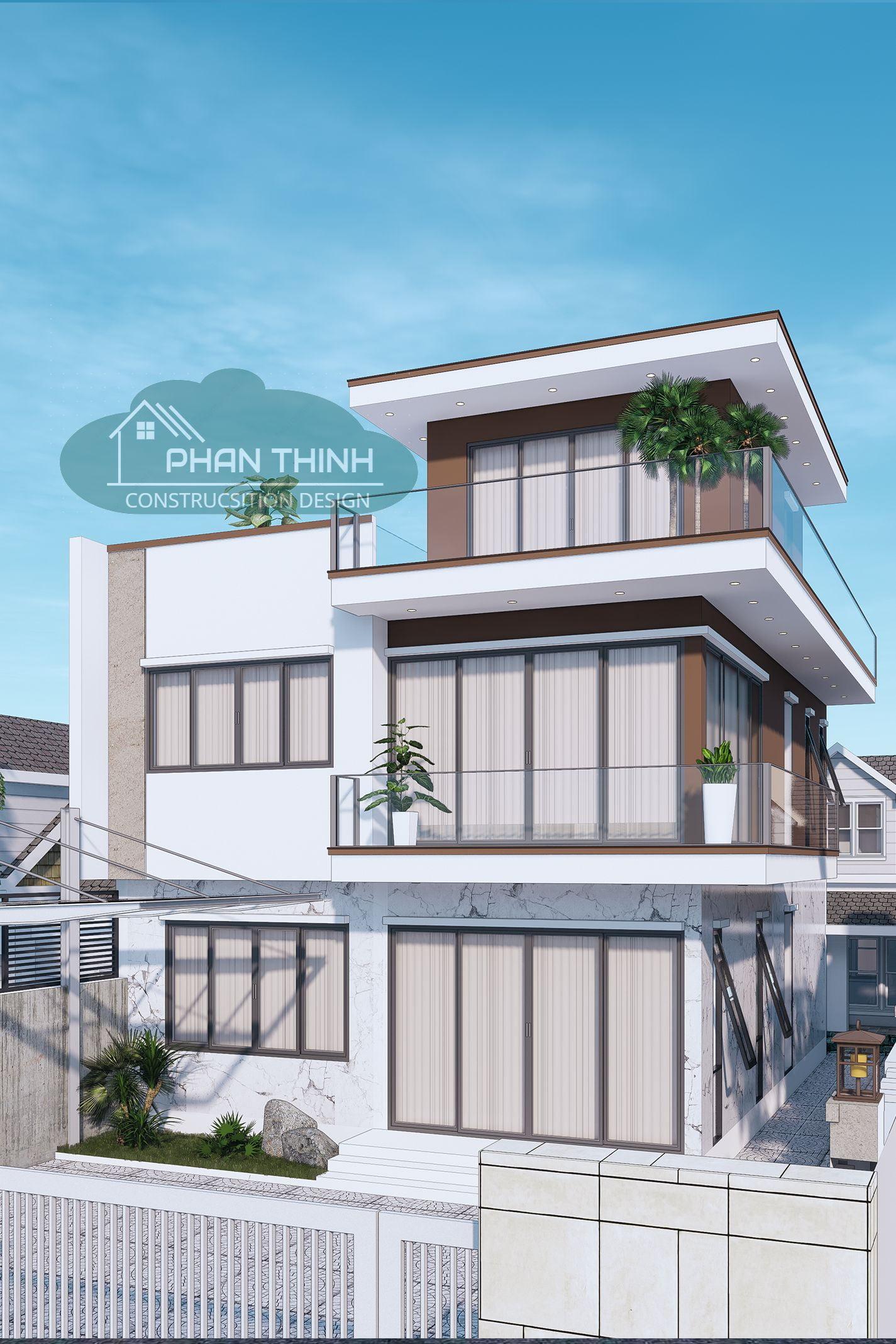 Phối cảnh biệt thự đẹp ở Quảng Ninh