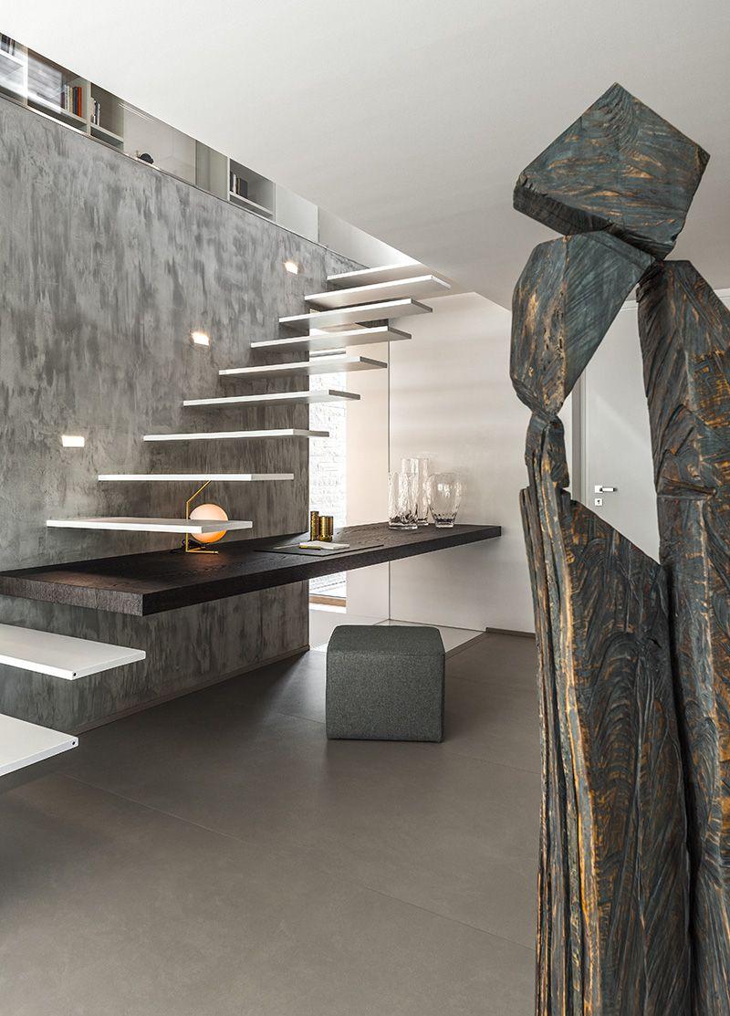 Mẫu cầu thang có thiết kế tối giản