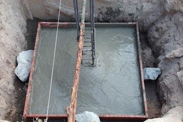 Hệ móng đơn (móng cốc) hay sử dụng trên những ngôi nhà thấp tầng, có nền đất cứng