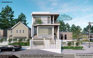 Thiết kế nhà phố 3 tầng phong cách hiện đại mặt tiền 8m tại Bãi Cháy