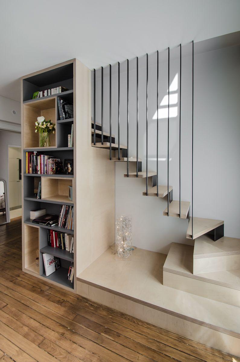 Mẫu cầu thang lắp dựng đơn giản
