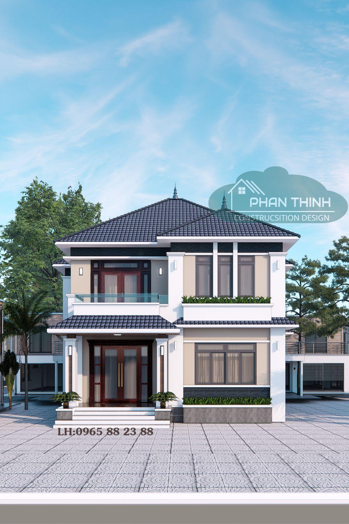 Thiết kế biệt thự 2 tầng đẹp ở Hạ Long Quảng Ninh