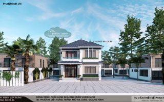 Thiết kế biệt thự tại Quảng Ninh, biệt thự 2 tầng tại phường Việt Hưng