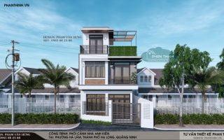 Thiết kế xây dựng nhà ống 3 tầng tại thành phố Hạ Long, tỉnh Quảng Ninh