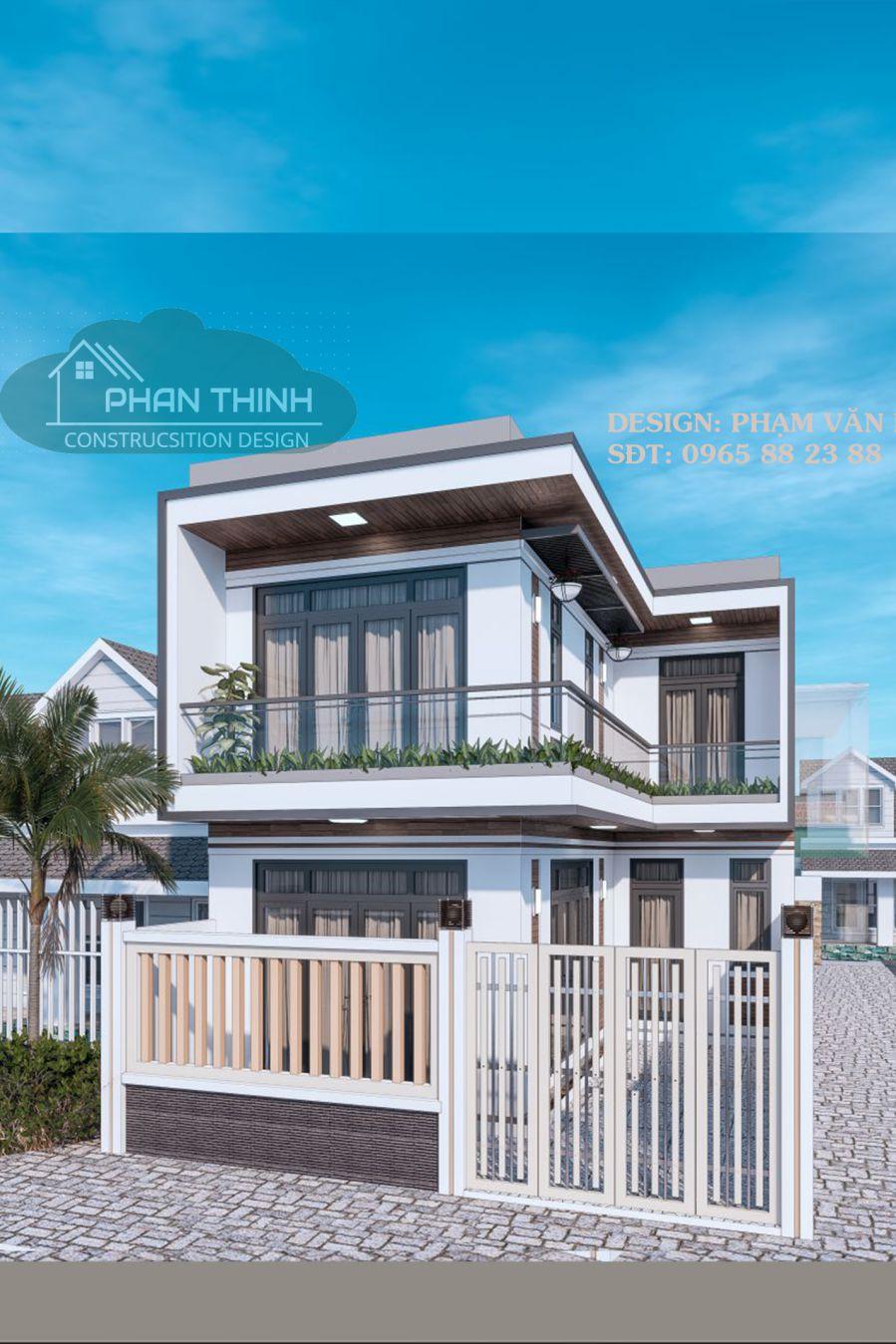 Phối cảnh ngôi nhà 2 tầng tại phường Hoành Bồ thành phố Hạ Long