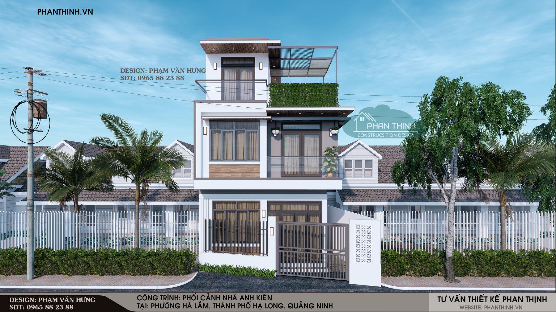 Thiết kế xây dựng ngôi nhà 3 tầng hiện đại tại Hạ Long Quảng Ninh