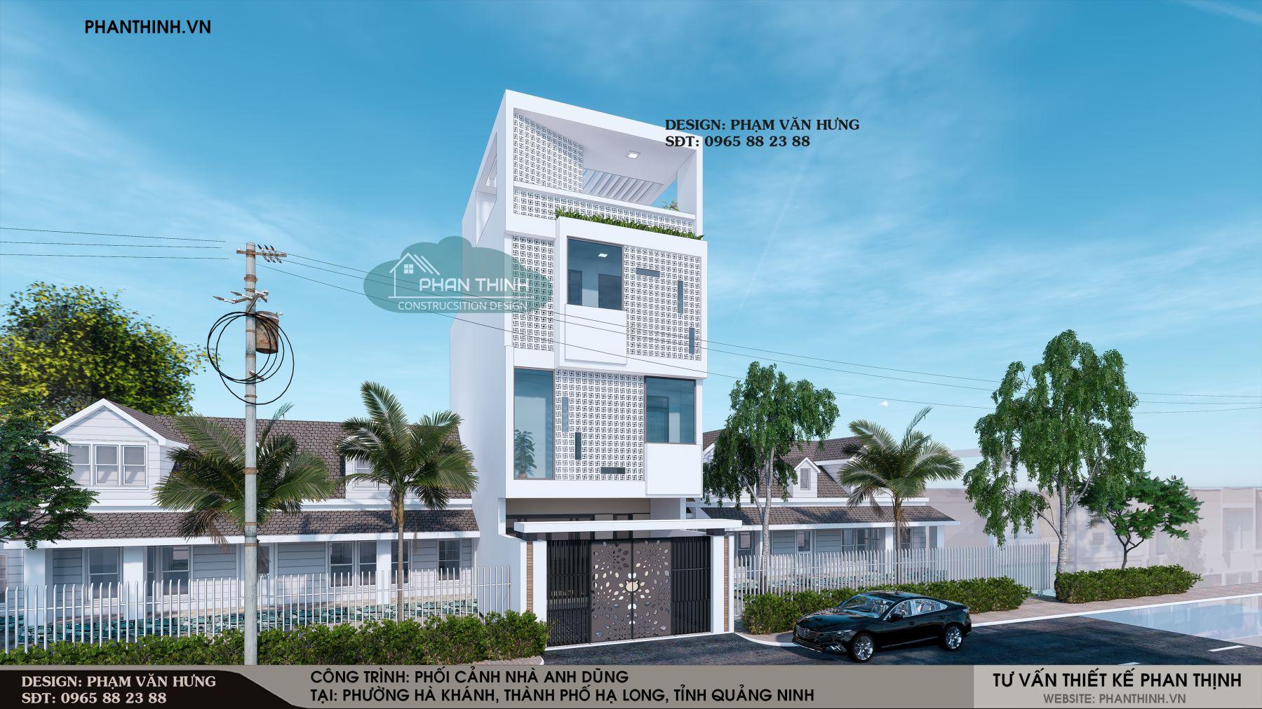 Thiết kế nhà phố hướng Tây ở Quảng Ninh
