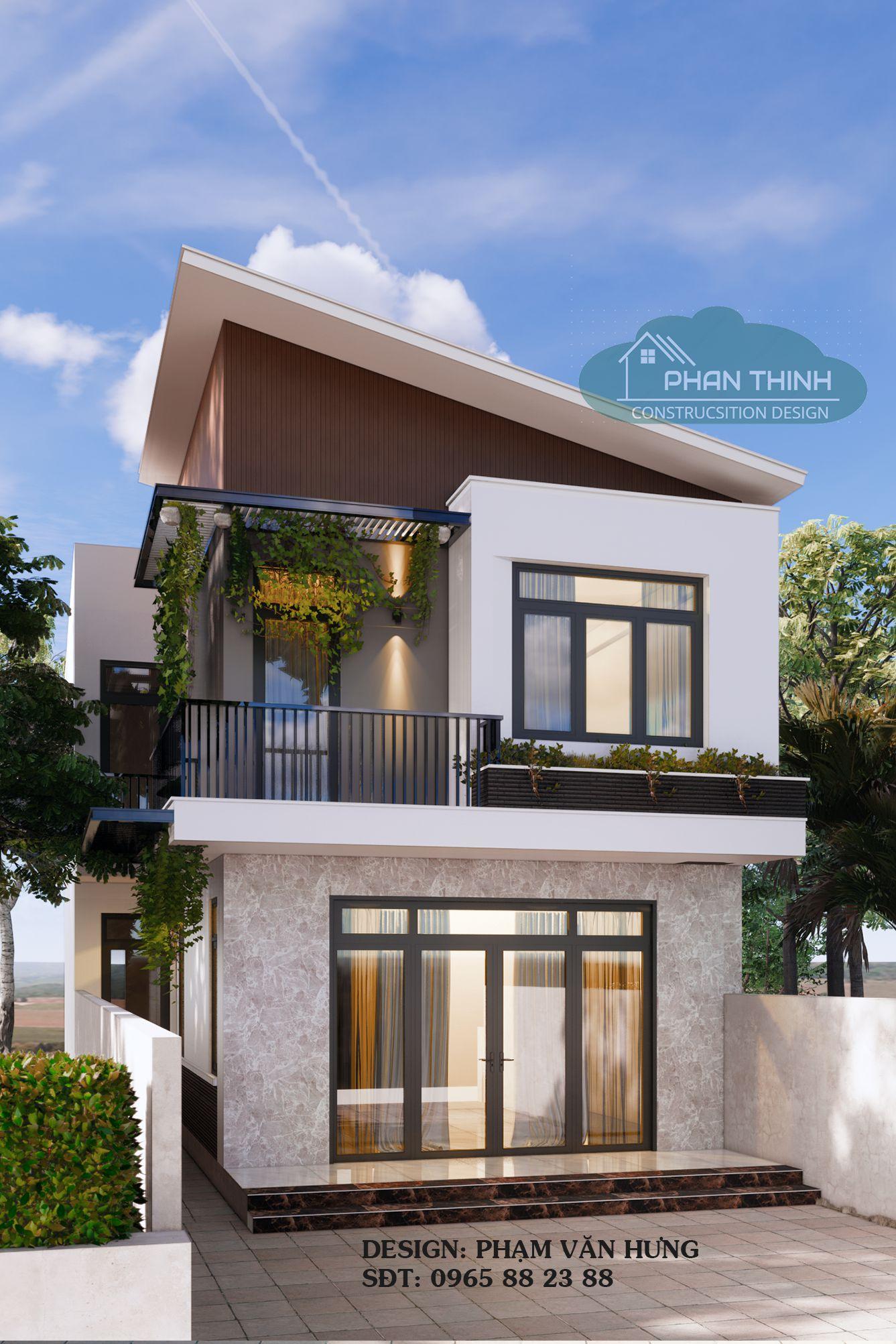 Tổng hợp các phương án thiết kế mặt tiền nhà anh Hoàn tại phường Cẩm Thịnh