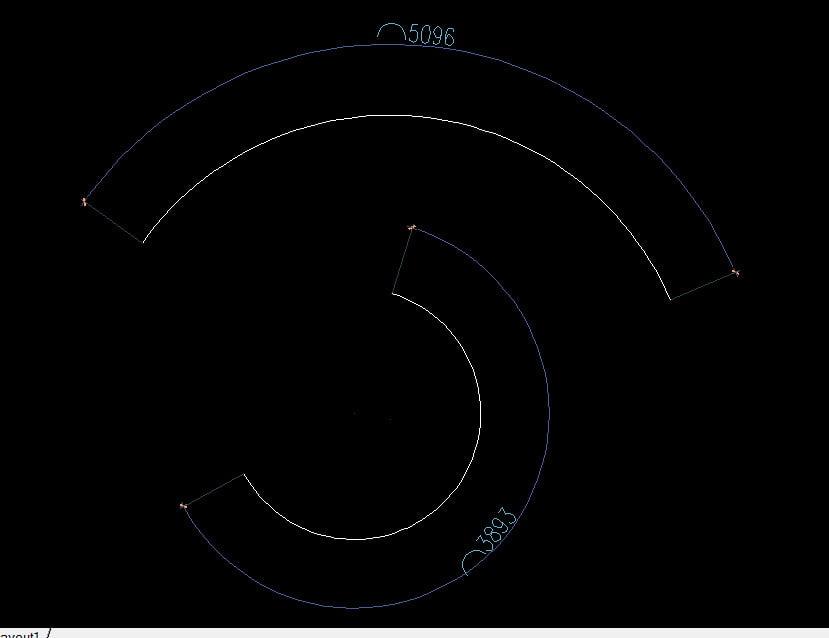 Đo cung tròn trong cad qua lệnh ARC LENGTH dim đường cong trong cad