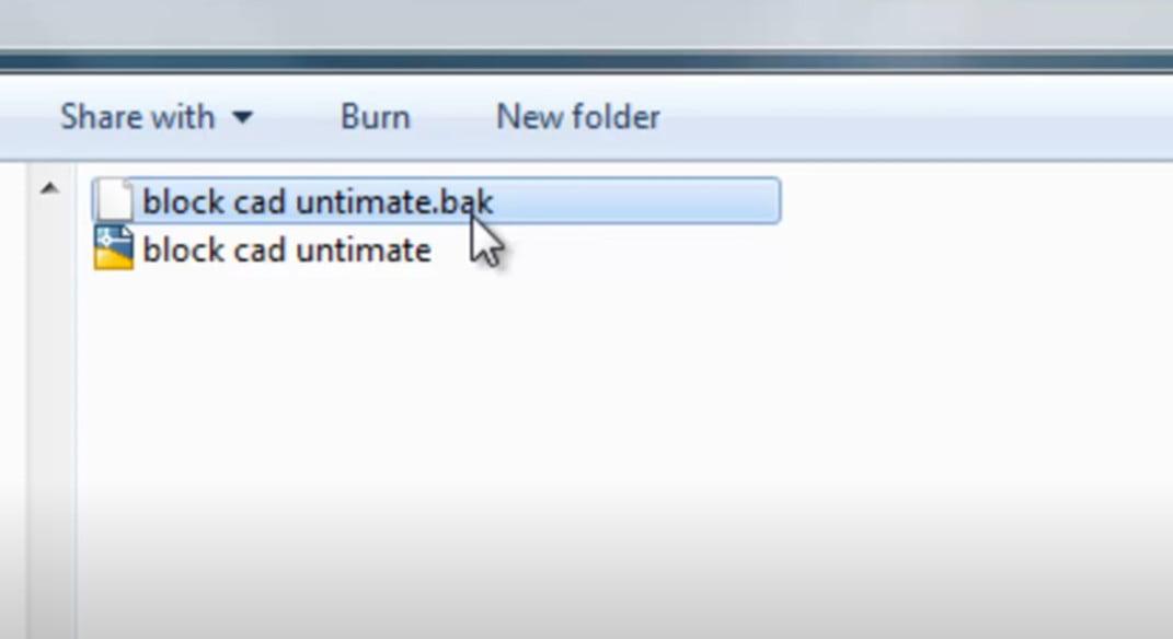 Cách lấy lại file cad chưa lưu trong cùng thư mục bản vẽ