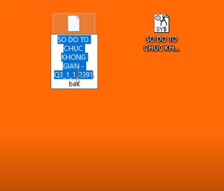 paste file cad cần khôi phục trong thư mục temp ra desktop