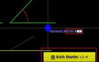 Vẽ góc trong cad, cách vẽ đường thẳng theo một góc nghiêng trong cad