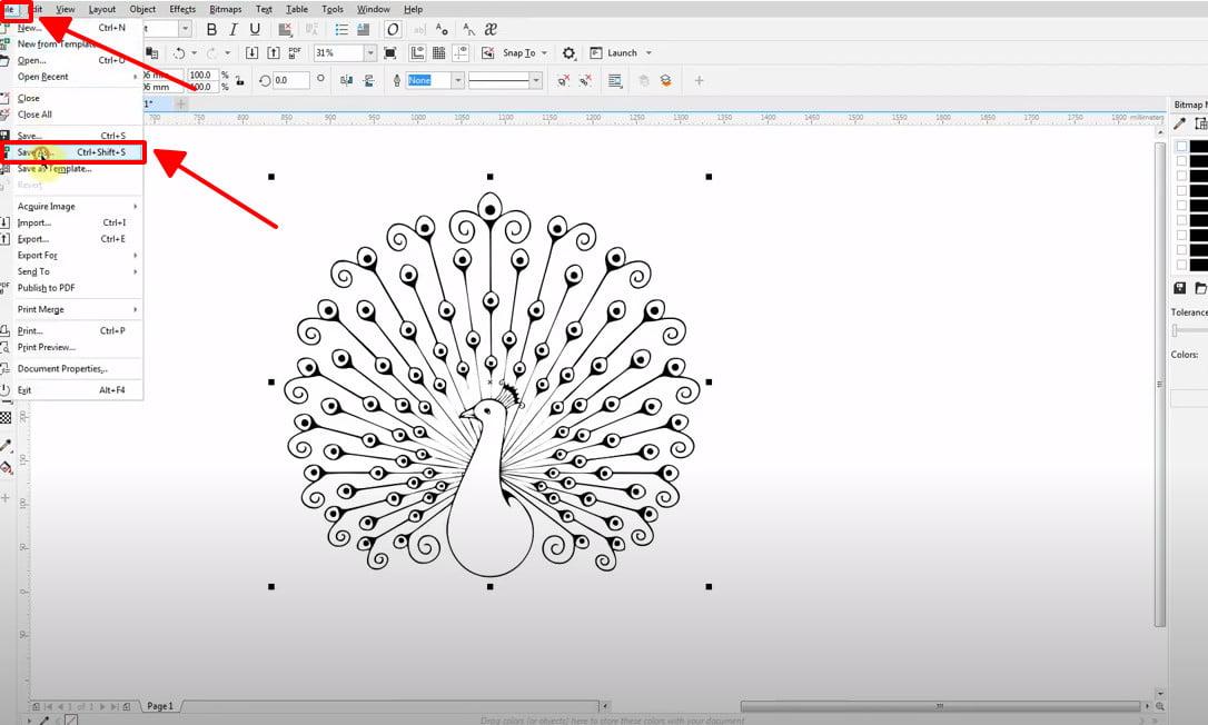 Chuyển file jpg to cad bằng phần mềm Corel Draw