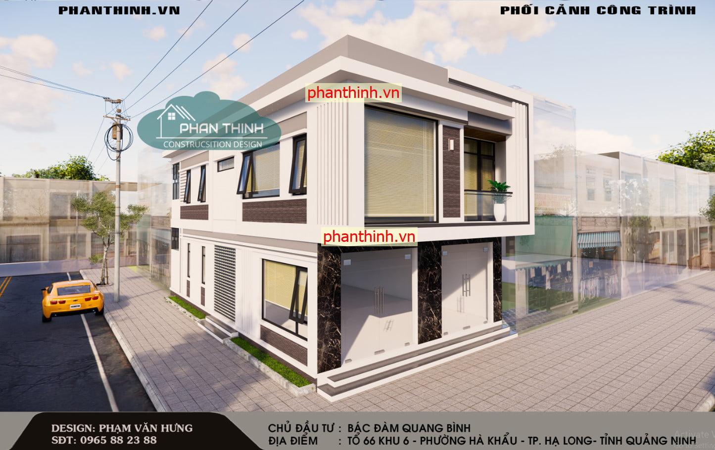 File cad bản thiết kế nhà 2 tầng đẹp