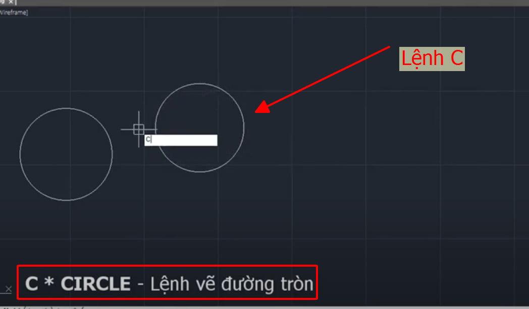 Lệnh C vẽ đường tròn trong cad