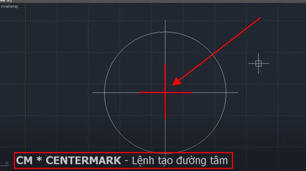 Lệnh centermark - lệnh tạo đường tâm