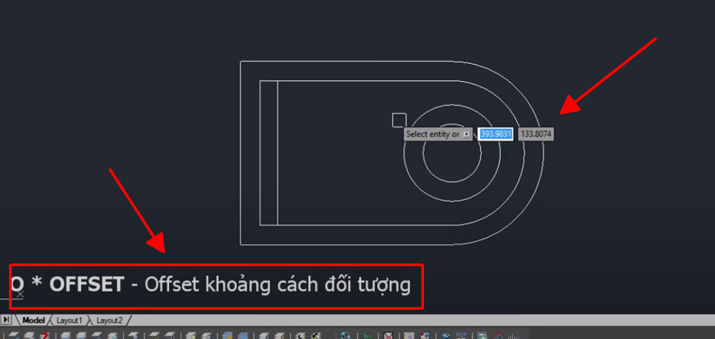 Lệnh Offset trong cad