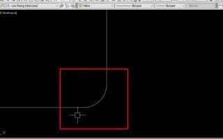 Lệnh bo góc trong cad, cách vát tròn 2 đường thẳng trong autocad