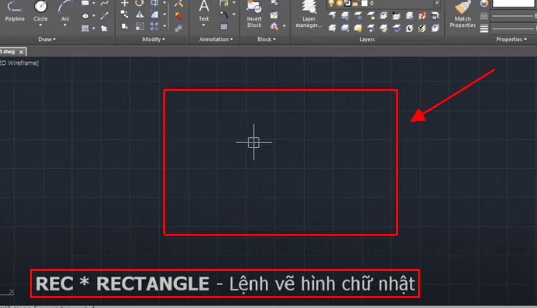 Lệnh rectangle - lệnh vẽ hình chữ nhật