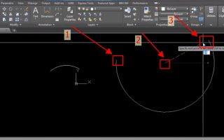 Vẽ cung tròn trong cad, hướng dẫn lệnh vẽ cung tròn qua 2 điểm autocad