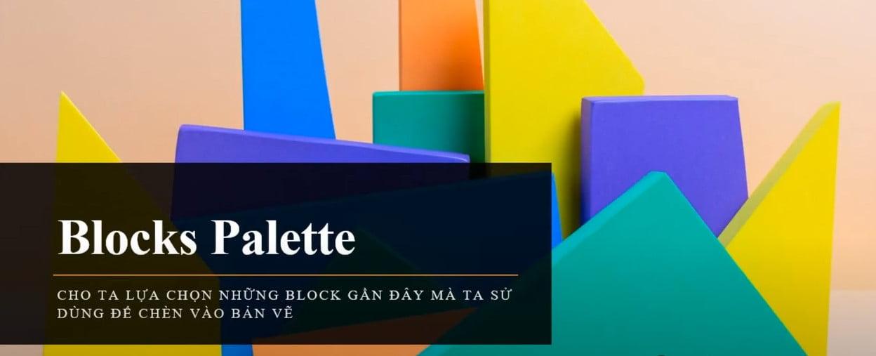Chức năng Blocks Palette mới trong cad 2020