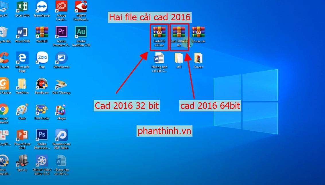 cài đặt sau khi download autocad 2016 full 64bit và autocad 2016 32bit full crack