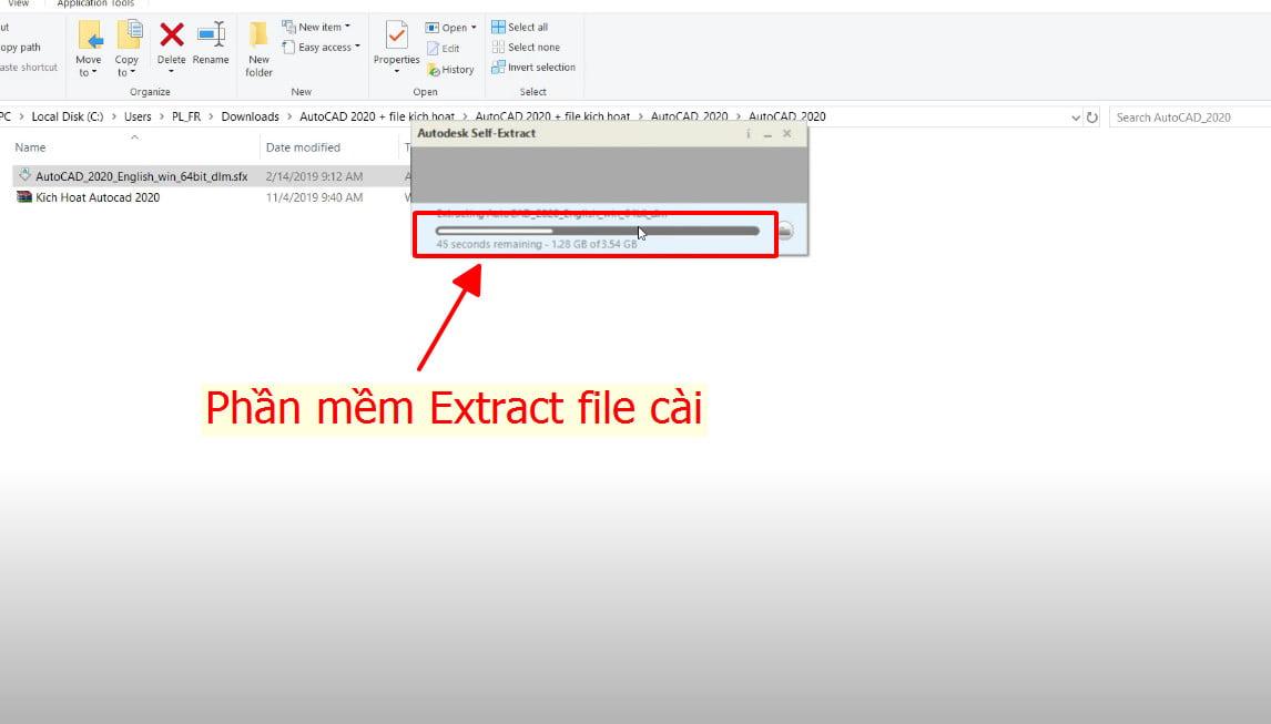 Phần mềm Extract file cài cad