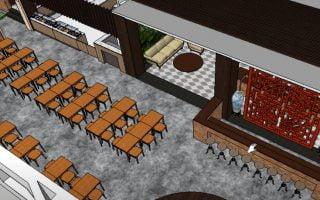 Tiêu chuẩn thiết kế nhà hàng ăn uống, nội thất nhà hàng ăn uống đẹp