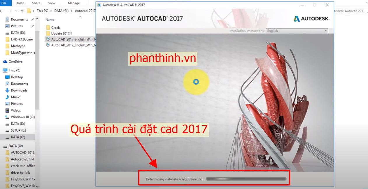 Quá trình cài đặt autocad 2017