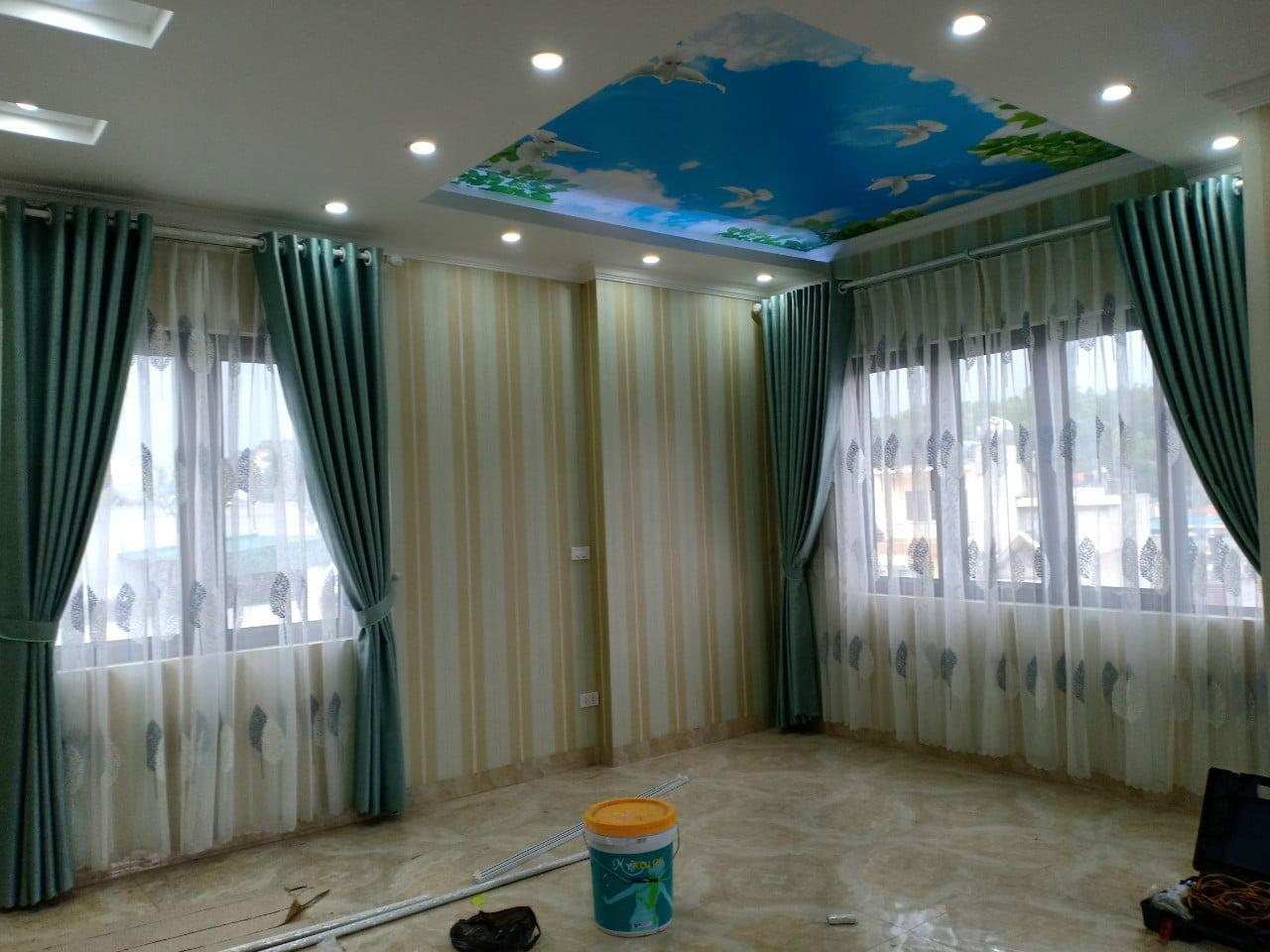 Rèm vải 2 lớp nhà anh Tâm - Quảng Ninh
