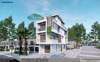 Mẫu nhà 3 tầng 2 mặt tiền đẹp tại Hà Khánh, Hạ Long, Quảng Ninh