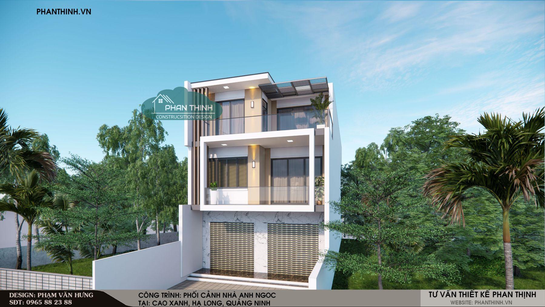 P.A 04-Mẫu nhà 3 tầng hiện đại