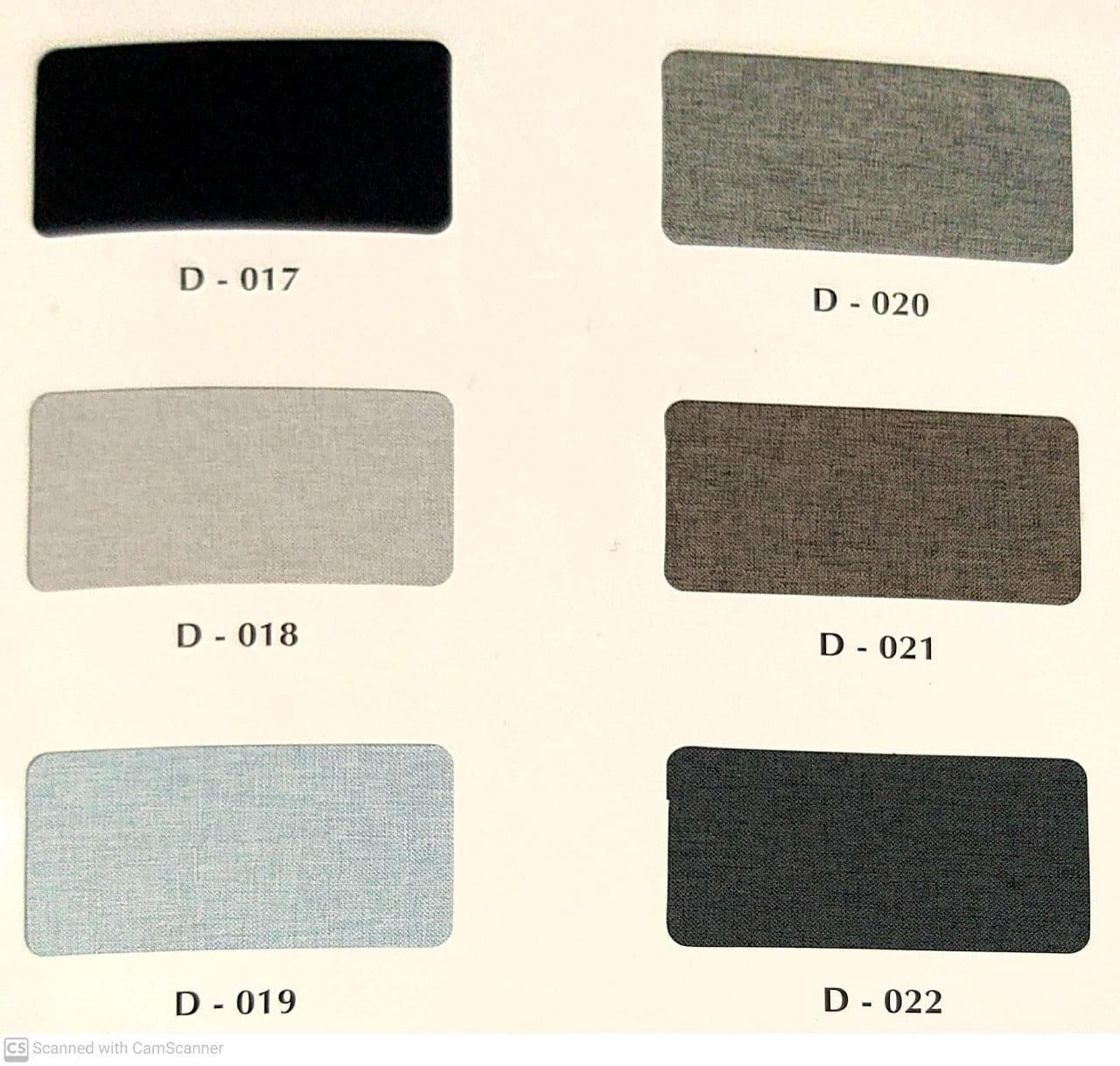 Rèm Roman xếp lớp mã D-017;020;018;021;019;022